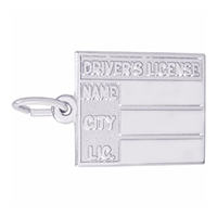 Rembrandt Drivers License Charm, Sterling Silver
