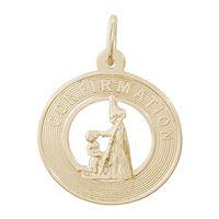 Rembrandt Confirmation Girl Charm, Gold Plated Silver