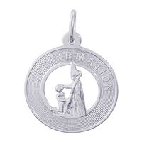 Rembrandt Confirmation Girl Charm, Sterling Silver