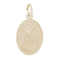 Rembrandt Bridesmaid Charm, Gold Plated Silver