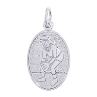 Rembrandt Female Softball  Charm, Sterling Silver