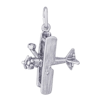 Rembrandt Biplane Charm, Sterling Silver