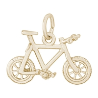 Rembrandt Mountain Bike Charm, Gold Plated Silver
