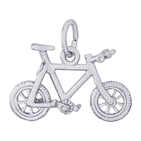 Rembrandt Mountain Bike Charm, Sterling Silver