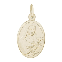 Rembrandt St Theresa Charm, Gold Plated Silver