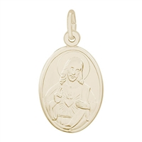 Rembrandt Sacred Heart Charm, Gold Plated Silver