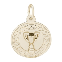 Rembrandt Trophy Charm, Gold Plated Silver