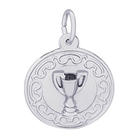 Rembrandt Trophy Charm, Sterling Silver