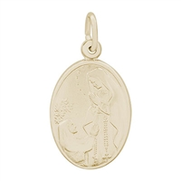Rembrandt Our Lady Of Lourdes Charm, Gold Plated Silver