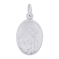Rembrandt Our Lady Of Lourdes Charm, Sterling Silver