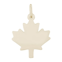 Rembrandt Maple Leaf Charm, Gold Plated Silver