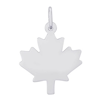 Rembrandt Maple Leaf Charm, 14K White Gold