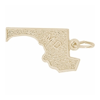 Rembrandt Maryland Charm, Gold Plated Silver