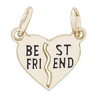 Rembrandt Best Friend Charm, Gold Plated Silver