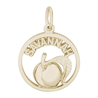 Rembrandt Savannah Peach Charm, Gold Plated Silver