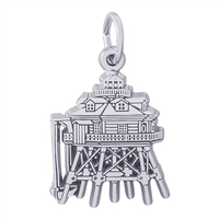 Rembrandt Thomas Point Lighthouse Maryland Charm, Sterling Silver