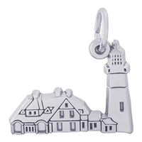 Rembrandt Portland Lighthouse Maine Charm, Sterling Silver