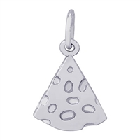 Rembrandt Cheese Slice Charm, Sterling Silver
