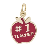 Rembrandt Teacher Charm, Gold Plated Silver