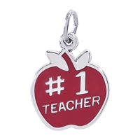 Rembrandt Teacher Charm, Sterling Silver