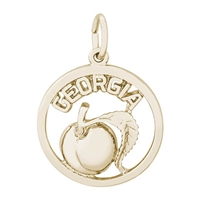 Rembrandt Georgia Peach Charm, Gold Plated Silver