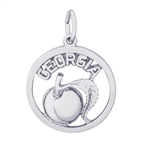Rembrandt Georgia Peach Charm, Sterling Silver