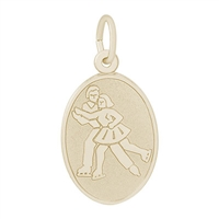 Rembrandt Skaters Charm, Gold Plated Silver