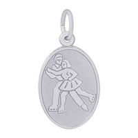 Rembrandt Skaters Charm, Sterling Silver