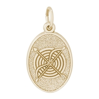 Rembrandt Archery Charm, 10K Yellow Gold