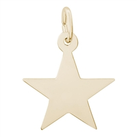 Rembrandt Star Charm, Gold Plated Silver
