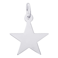 Rembrandt Star Charm, Sterling Silver