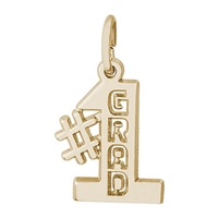 Rembrandt #1 Grad Charm, Gold Plated Silver