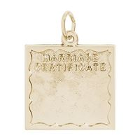 Rembrandt Marriage Certificate Charm, Gold Plated Silver
