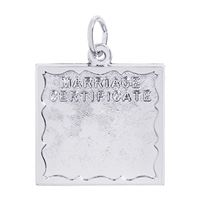Rembrandt Marriage Certificate Charm, Sterling Silver