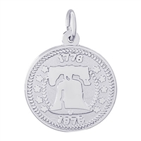 Rembrandt Liberty Bell Charm, Sterling Silver