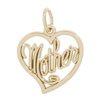 Rembrandt Mother Charm, Gold Plated Silver