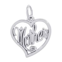Rembrandt Mother Charm, Sterling Silver