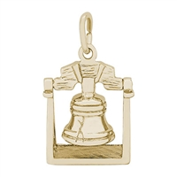 Rembrandt Liberty Bell Charm, Gold Plated Silver