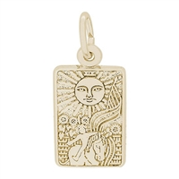 Rembrandt Tarot Card Charm, Gold Plated Silver