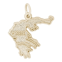 Rembrandt Greece Charm, Gold Plated Silver