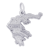 Rembrandt Greece Charm, Sterling Silver