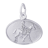 Rembrandt Polo Disc Charm, Sterling Silver