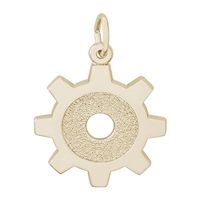 Rembrandt Engineer Charm, Gold Plated Silver