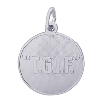 Rembrandt TGIF Charm, Sterling Silver