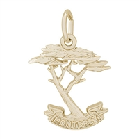 Rembrandt Monterey Cypress Charm, Gold Plated Silver
