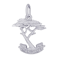 Rembrandt Monterey Cypress Charm, Sterling Silver