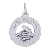 Rembrandt Sea Island Charm, Sterling Silver
