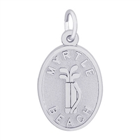 Rembrandt Myrtle Beach Golf Bag Charm, Sterling Silver