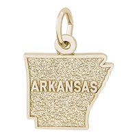 Rembrandt Arkansas Charm, Gold Plated Silver