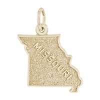 Rembrandt Missouri Charm, Gold Plated Silver